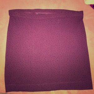 Burgundy H&M Mini Skirt